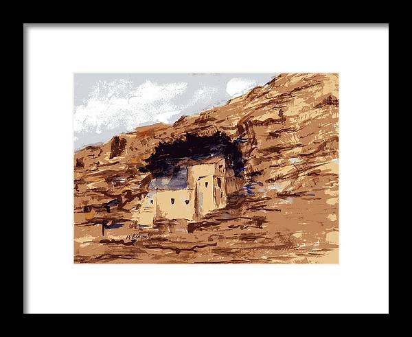 Landscape Framed Print featuring the painting The Castle by Marilyn Barton