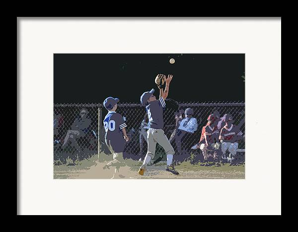Baseball Framed Print featuring the photograph The Catch by Peter McIntosh
