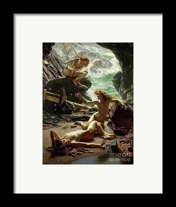 The Cave Of The Storm Nymphs Framed Print featuring the painting The Cave Of The Storm Nymphs by Sir Edward John Poynter