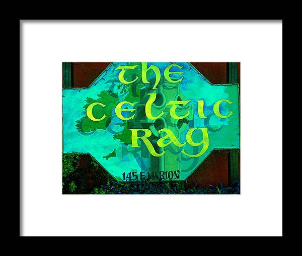 Ireland Framed Print featuring the painting the Celtic Ray by Charles Peck