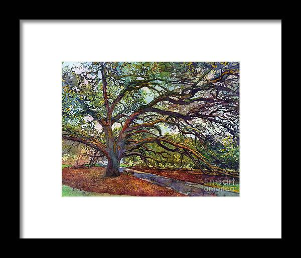 Oak Framed Print featuring the painting The Century Oak by Hailey E Herrera