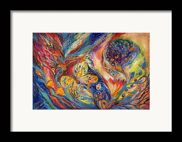 Original Framed Print featuring the painting The Chagall Dreams by Elena Kotliarker