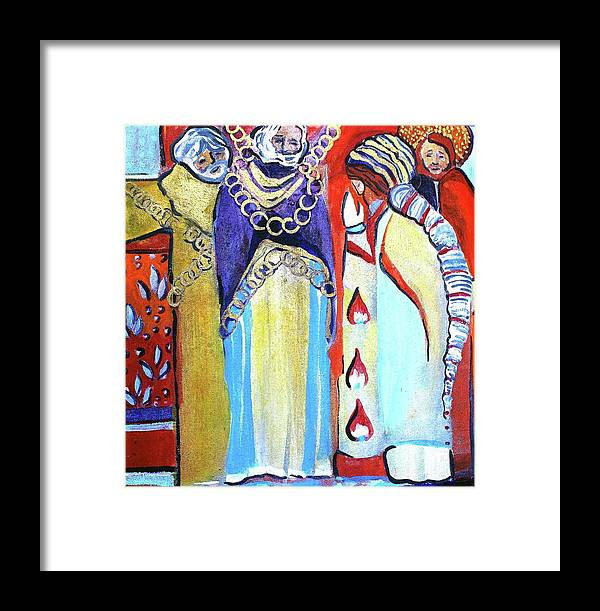 St. Paul Framed Print featuring the painting The Chains That Bind Us To Christ by Mindy Newman
