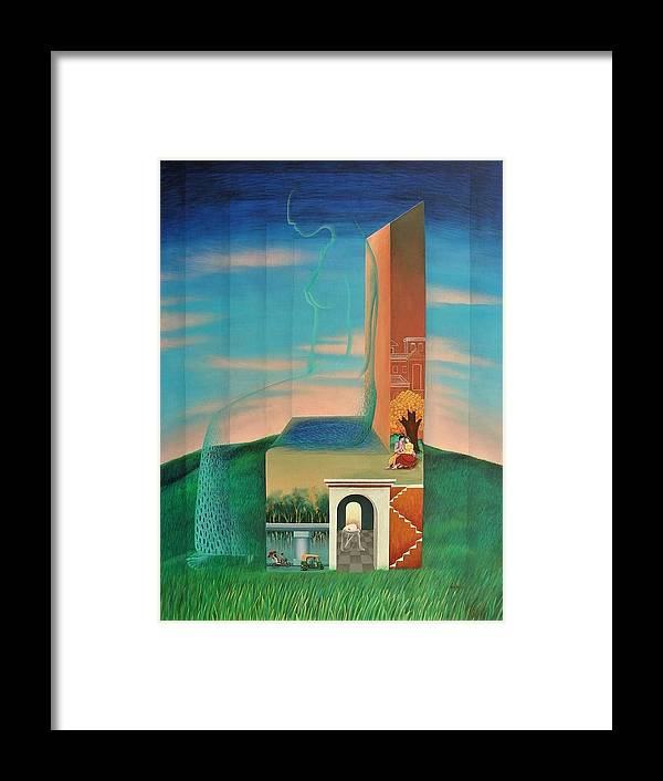 Romantic Framed Print featuring the painting The Chair For You by Raju Bose