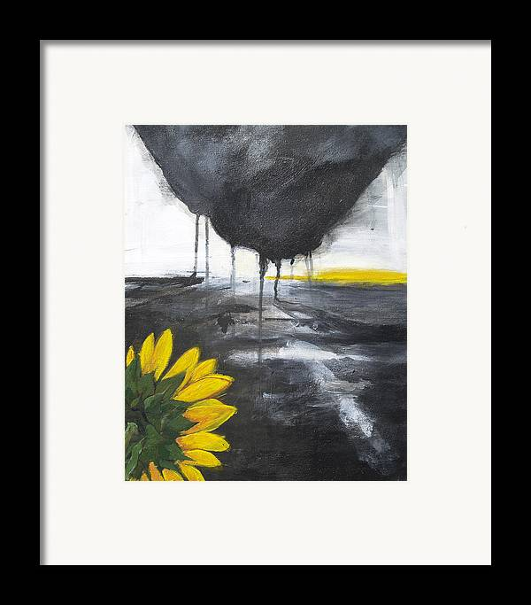 Expressionism Framed Print featuring the painting The Challenge by Cecilia August Sand