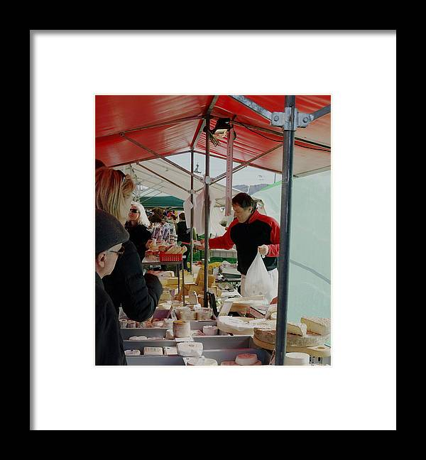 Cheese Framed Print featuring the photograph The Cheese Vender by Chuck Shafer
