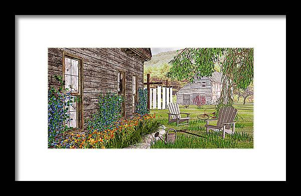 Adirondack Chair Framed Print featuring the photograph The Chicken Coop by Peter J Sucy