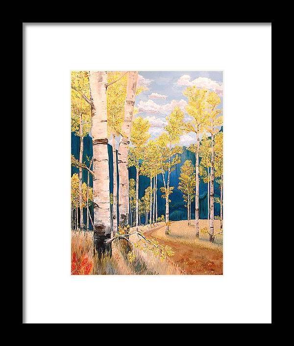 Rebecca Robinson Framed Print featuring the painting The Chosen Path by Rebecca Robinson
