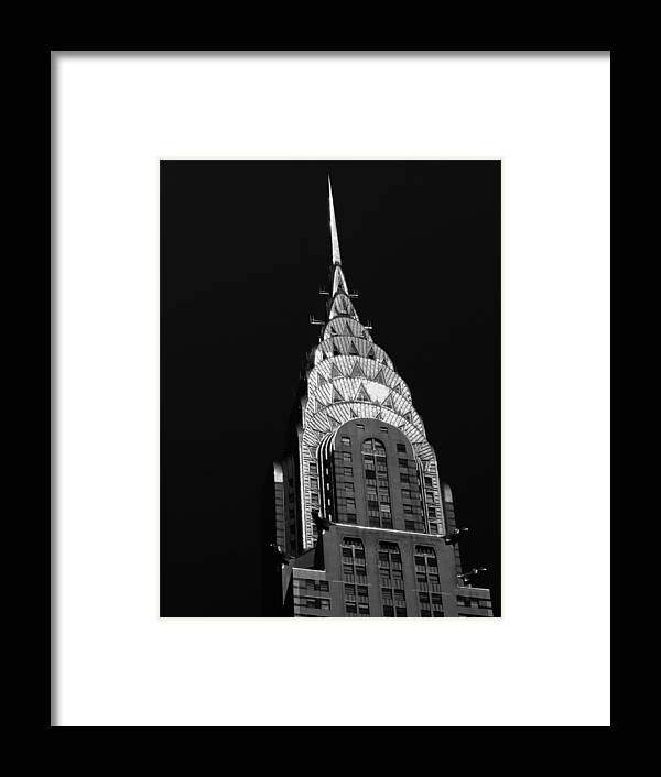 Chrysler Building Framed Print featuring the photograph The Chrysler Building by Vivienne Gucwa