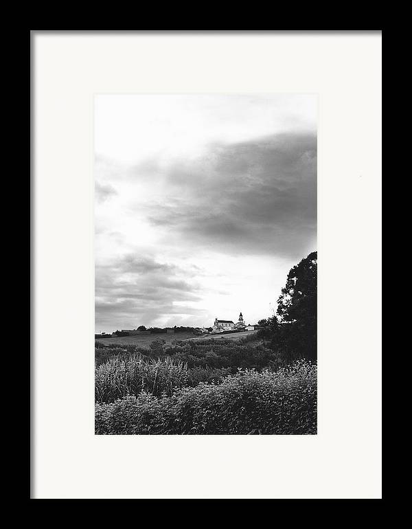Azores Framed Print featuring the photograph The Church At Salga Azores Portugal by Henry Krauzyk