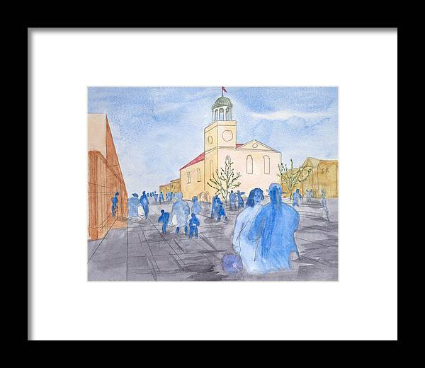 Church In France Framed Print featuring the painting The Church by Jonathan Galente