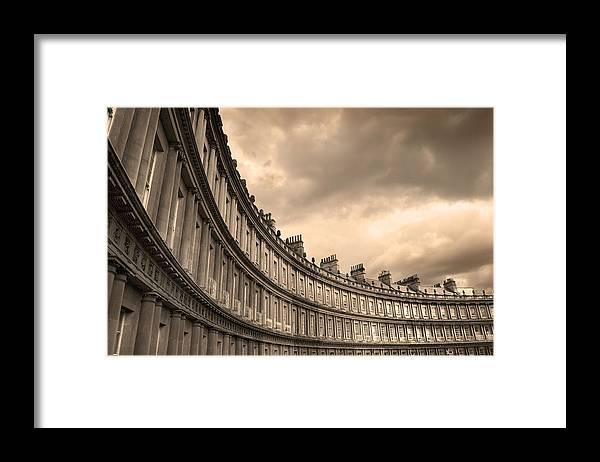 Bath Framed Print featuring the photograph The Circus Bath England by Mal Bray
