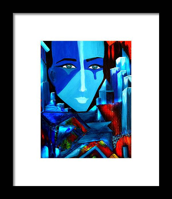 Abstract Framed Print featuring the painting Abstract Two by Patricia Motley