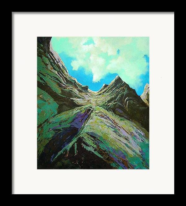 Landscape Framed Print featuring the painting The Climb by Dale Witherow