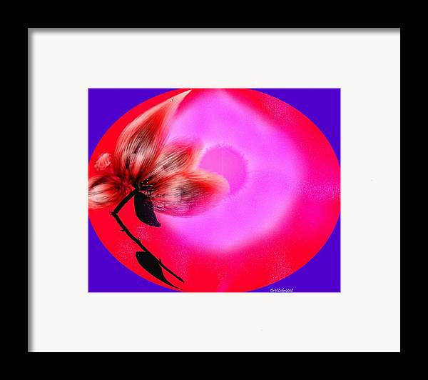 Love.world Of Love.flower Of Love.sun Of Love.red.pink.colors.broken Flower Of Love Framed Print featuring the digital art The Closed World Of The Love by Dr Loifer Vladimir