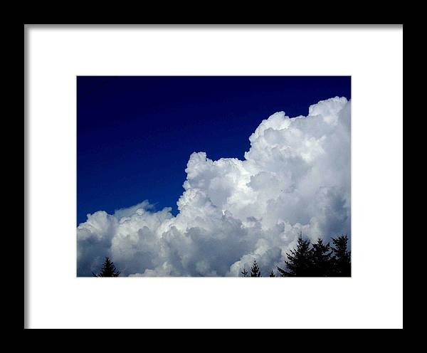 Cloudy Framed Print featuring the photograph The Cloud by Kevin D Davis