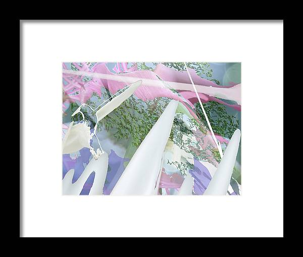 Abstract Framed Print featuring the photograph The Clouds Were Pink by Lyn Perry