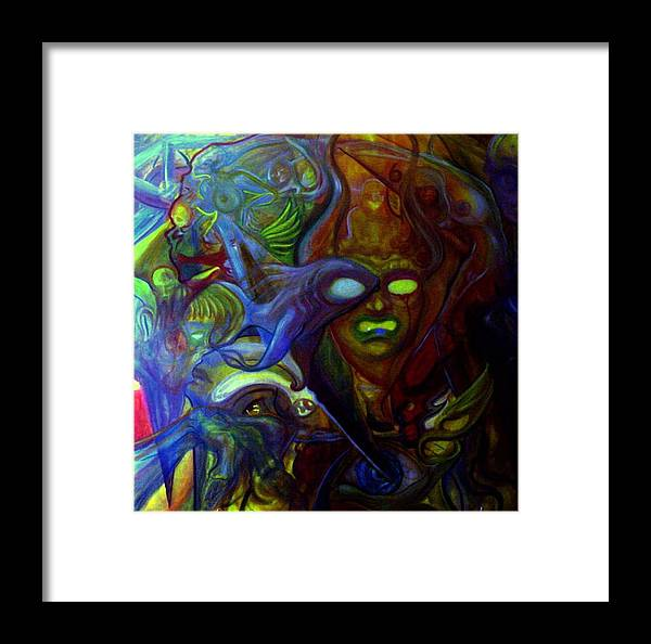Chaos Framed Print featuring the painting The Clutter Of Chaos by Will Le Beouf