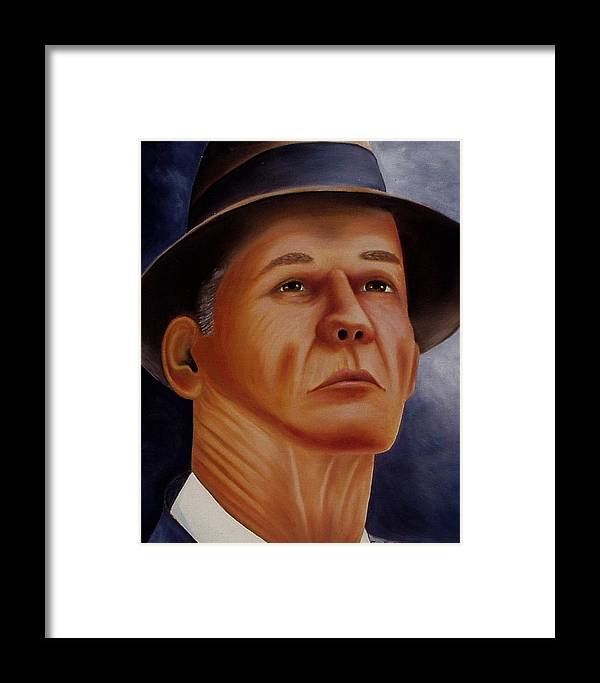 Portrait Framed Print featuring the painting The Coach by Gene Gregory