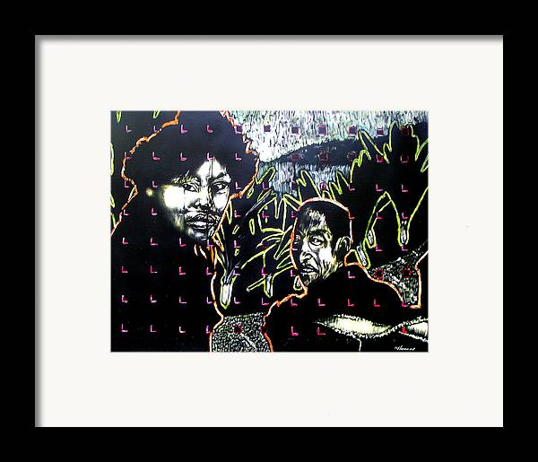 Framed Print featuring the mixed media The Coffee Vendor by Chester Elmore