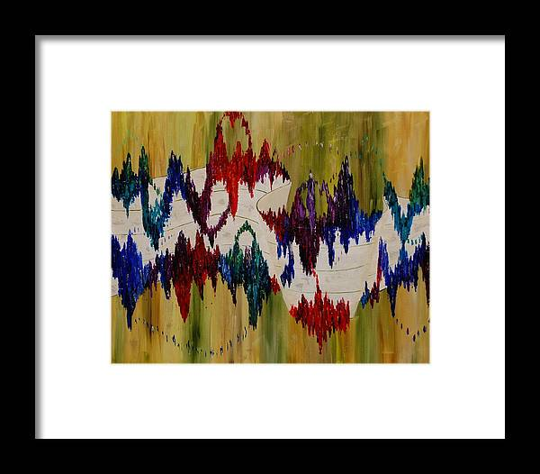 Abstract Framed Print featuring the painting The Color Of Jazz by Deborah Gall