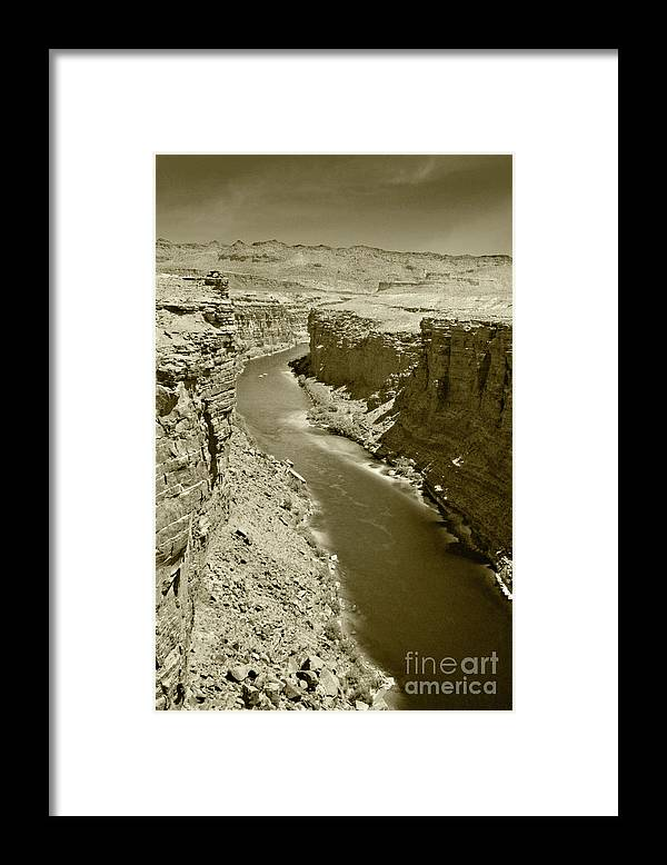 Colorado Framed Print featuring the photograph The Colorado River by Pete Hellmann