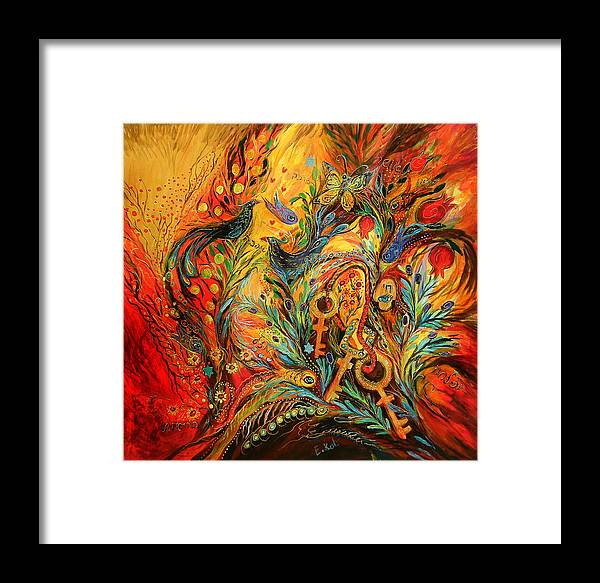 Original Framed Print featuring the painting The Colors Of Sunrise by Elena Kotliarker