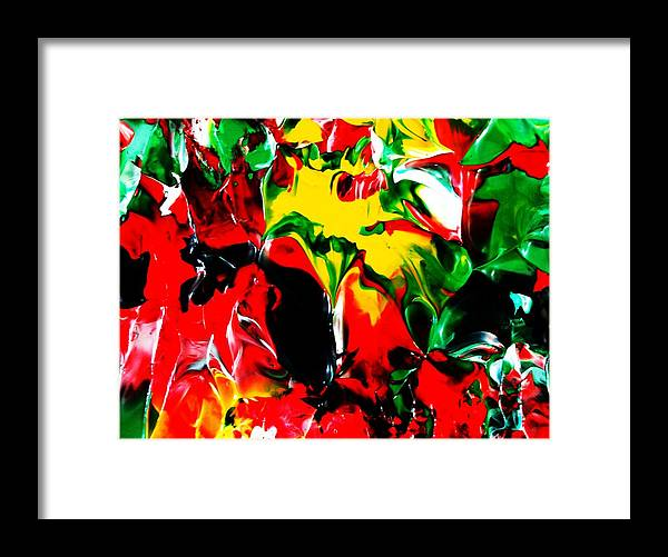 Abstract Conceptual Expressionism Nature Landscape Dance Love Poetry Nature Portrait Figurative Surr Framed Print featuring the painting The Colors Of The Caribbeans by Carmen Doreal