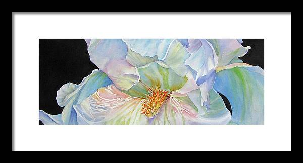 White Framed Print featuring the painting The-colours-of-white by Nancy Newman