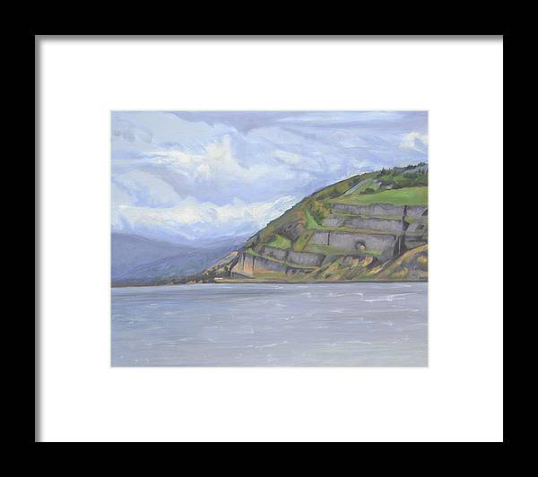 The Columbia River Gorge Framed Print featuring the painting Heart of the Gorge by Mary Chant