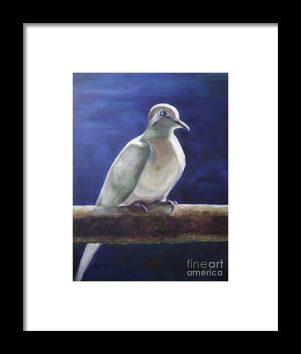 Dove Framed Print featuring the painting The Companion by Asha Porayath