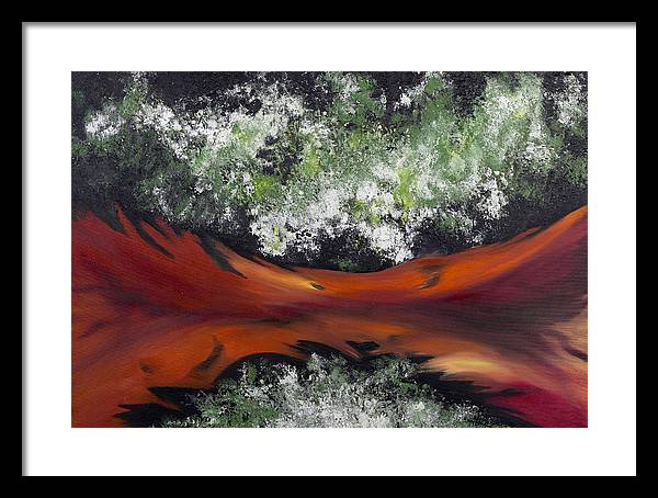 Abstract Framed Print featuring the painting The Conception Of Birth by Ara Elena