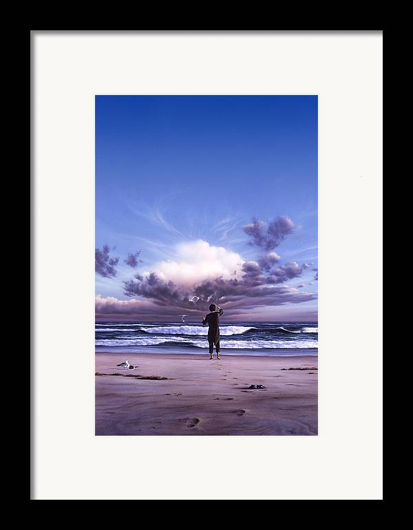 Music Framed Print featuring the painting The Conductor by Jerry LoFaro