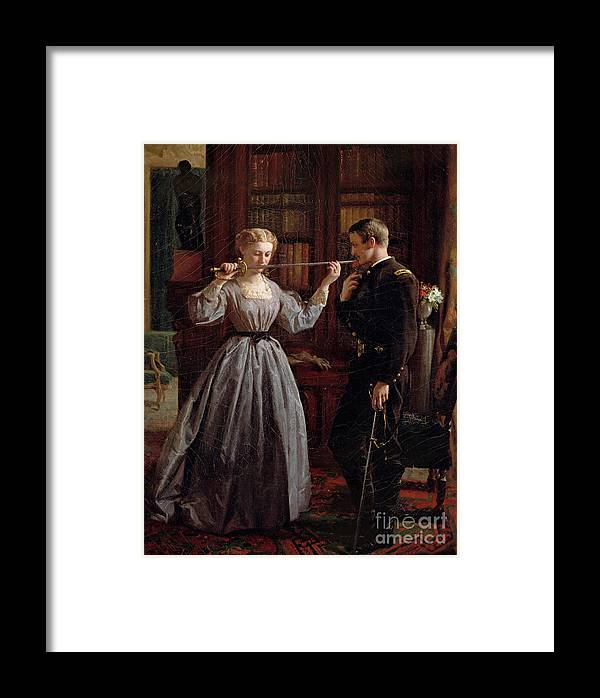 War Of Northern Aggression Framed Print featuring the painting The Consecration by George Cochran