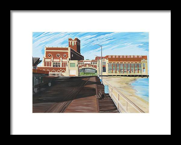 Asbury Art Framed Print featuring the painting The Convention Hall Asbury Park by Patricia Arroyo