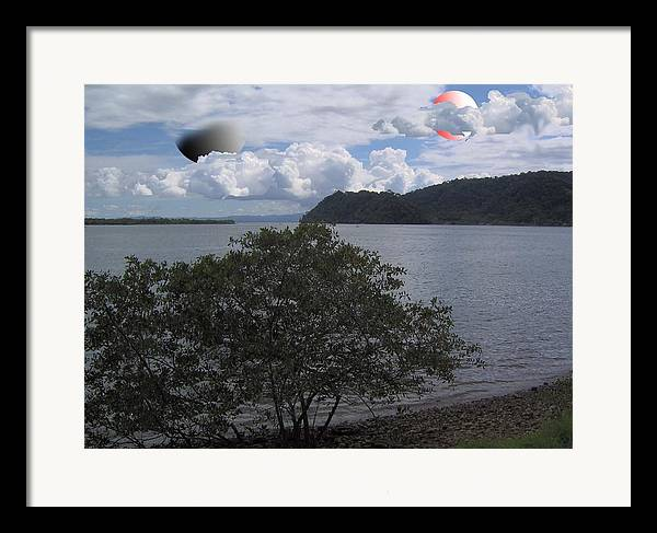Land Scape Sci-fi Framed Print featuring the photograph The Coolness Of Other Planets by Giles b Liddell