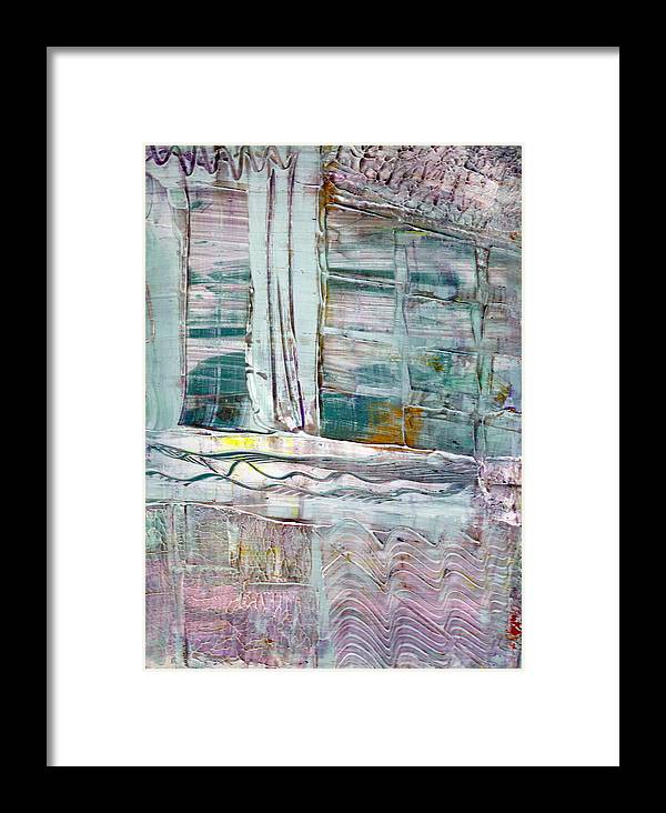 Abstract Framed Print featuring the painting The Corner Window by Wayne Potrafka