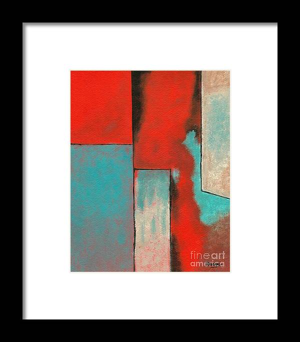 Abstract Framed Print featuring the painting The Corners Of My Mind by Itaya Lightbourne