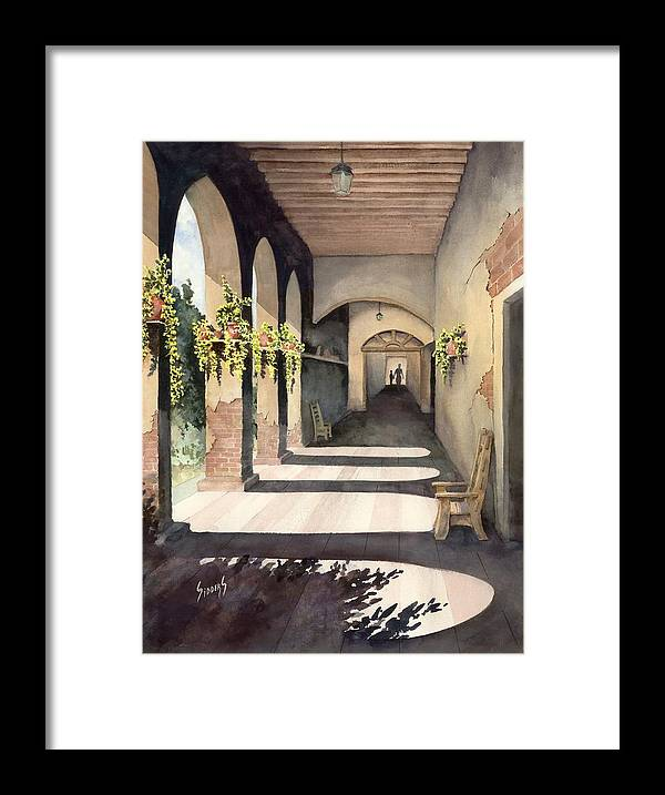 Plants Framed Print featuring the painting The Corridor 2 by Sam Sidders
