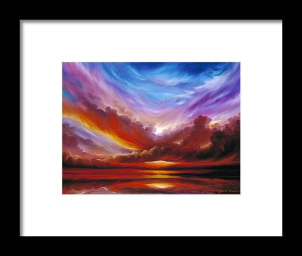 Skyscape Framed Print featuring the painting The Cosmic Storm II by James Christopher Hill