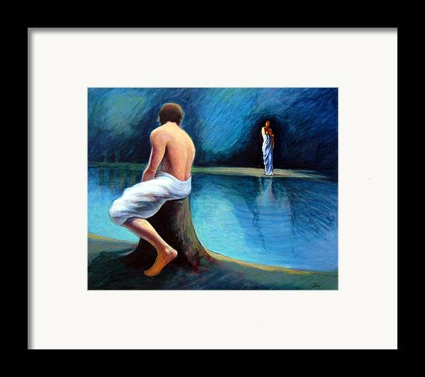 Nightscape Framed Print featuring the painting The Couple by James LeGros