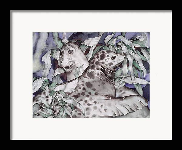 Sealife Framed Print featuring the painting The Couple by Liduine Bekman