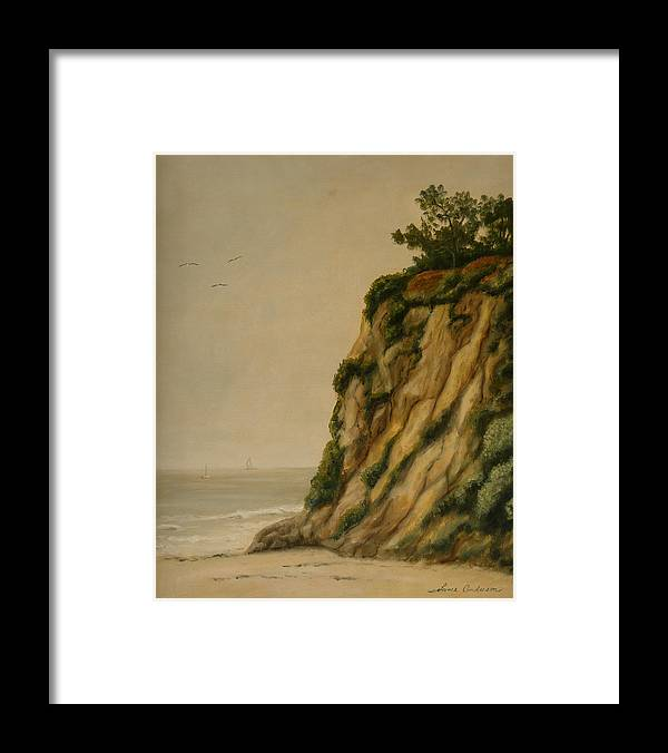 Ocean Framed Print featuring the painting The Cove by Lance Anderson
