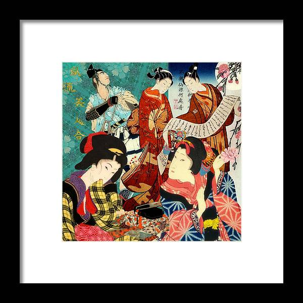 Japanese Art Framed Print featuring the digital art The Covenant by Laura Botsford
