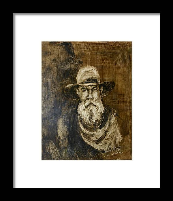 Cowboy Framed Print featuring the painting The Cowboy by Keith Nolan