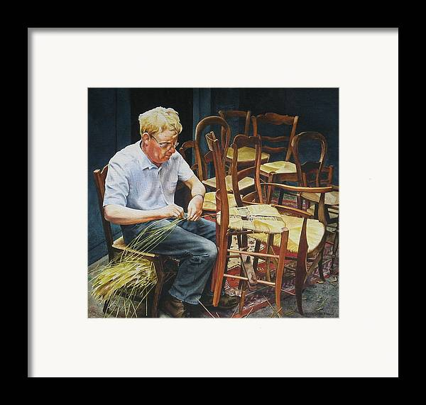 People Framed Print featuring the painting The Craftsman by Marion Hylton