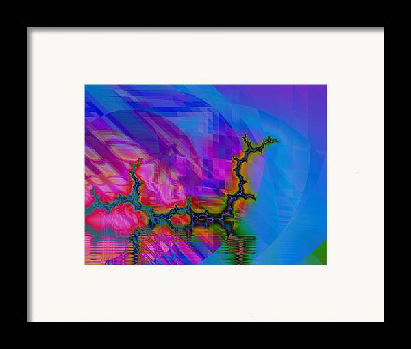 Fractal Framed Print featuring the digital art The Crawling Serpent by Frederic Durville