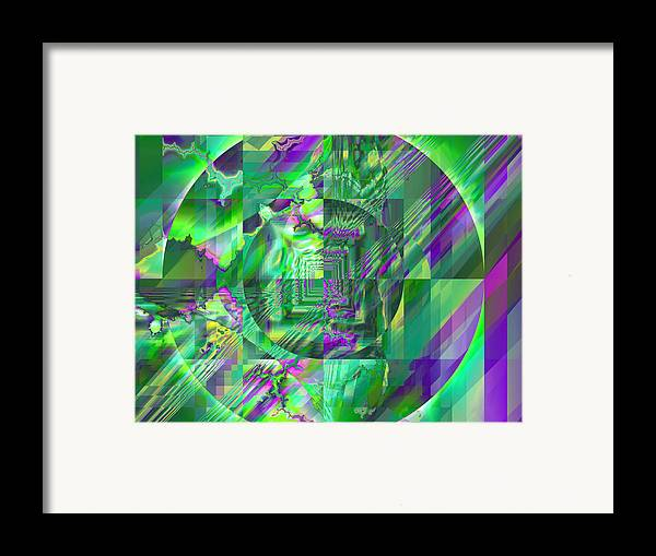 Fractal Framed Print featuring the digital art The Crazy Fractal by Frederic Durville