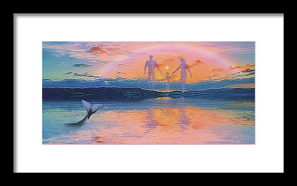 Symbolic Digital Art Framed Print featuring the digital art The Creation by Harald Dastis