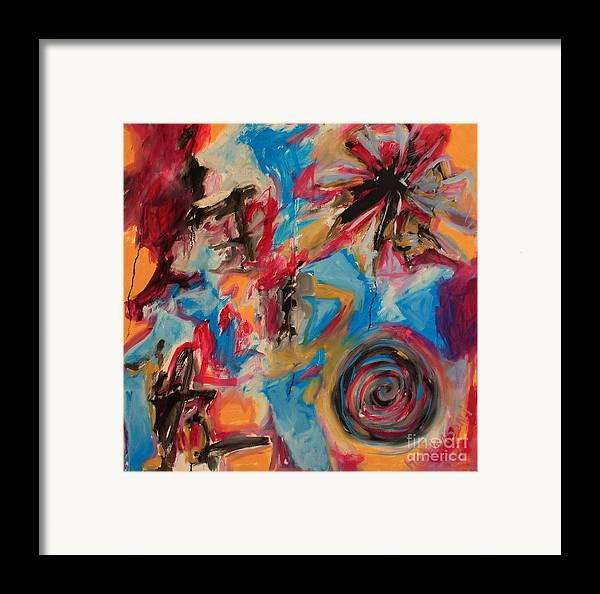 Abstract Framed Print featuring the painting The Creation by Michael Henderson